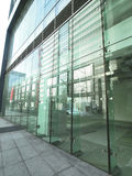 Transparent glass wall Stock Photography