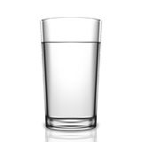 Transparent Glass of Water Stock Image