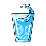 Transparent glass with water. Water to take my pills insulin for diabetics.Diabetes single icon in cartoon style vector Stock Photo