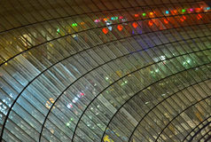Transparent glass windows heap with power illumination, Stock Image