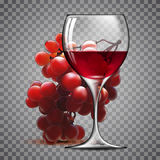 Transparent glass of wine Royalty Free Stock Image