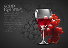 Transparent glass of wine Royalty Free Stock Photos