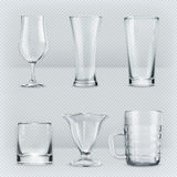 Transparent glasses goblets Stock Image
