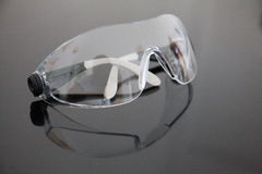 Transparent glasses safety for dentist at work Stock Images