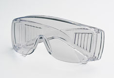 Transparent glasses safety Royalty Free Stock Image