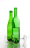 Transparent glassware Stock Photos