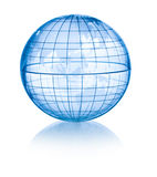 Transparent globe Royalty Free Stock Images