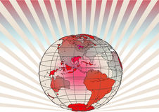 Transparent globe. vector file. Transparent globe on the radiation background Royalty Free Stock Photo