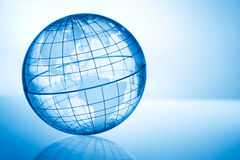 Transparent globe 2 Stock Images