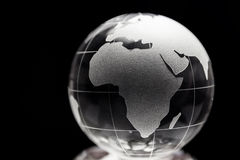 Transparent globe with black background Royalty Free Stock Images