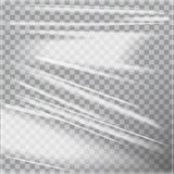 Transparent Glossy Polyethylene Plastic Warp. Vector template mock up. For your design Royalty Free Stock Image