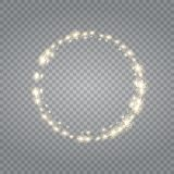 Transparent glow light effect. Star burst with sparkles. royalty free stock image