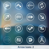 Transparent glowing ghost arrow icons Stock Images