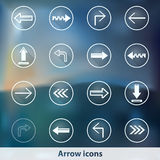 Transparent glowing ghost arrow icons Royalty Free Stock Photo