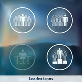 Transparent glowing ghost leader icons Royalty Free Stock Photos