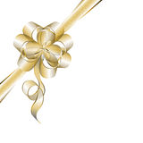 Transparent golden bow Stock Images