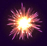 Transparent Golden Glow light effect. Star burst with sparkles Stock Images