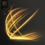 Transparent golden light effect sparkling background. Vector Royalty Free Stock Photo