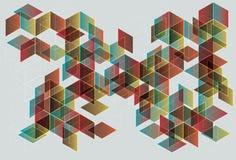 Transparent Gradient Cube Background Stock Image