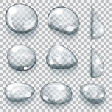 Transparent gray drops Stock Photo