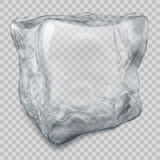 Transparent gray ice cube Stock Images
