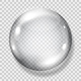 Transparent gray sphere Stock Images