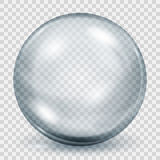 Transparent gray sphere with shadow Royalty Free Stock Image