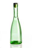 Transparent green bottle Royalty Free Stock Image