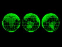 Transparent green globes Stock Photography