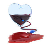 Transparent heart with dropper Royalty Free Stock Photo
