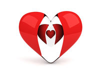 Transparent heart with two hearts inside Royalty Free Stock Image