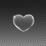 Transparent hearts with frame. Eps10 Stock Images