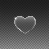 Transparent hearts on grey background. Vector eps10 Royalty Free Stock Photography
