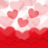 Transparent hearts Royalty Free Stock Photography