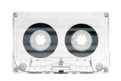 Transparent HiFi Audio Tape on White Royalty Free Stock Image