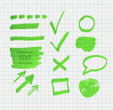 Transparent highlighter marks Royalty Free Stock Photography