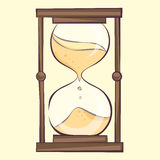 Transparent hourglass illustration, sandglass, sandclock,  eps10 icon Stock Photography