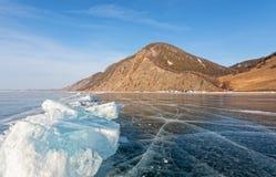 Transparent ice Stock Image