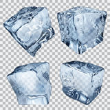 Transparent ice cubes Stock Photos