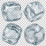Transparent ice cubes Royalty Free Stock Photos