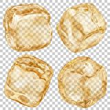 Transparent ice cubes Stock Image