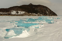 Transparent ice near the Holy Nose Peninsula. Stock Images