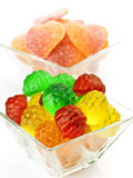 Transparent jelly beans Royalty Free Stock Photo