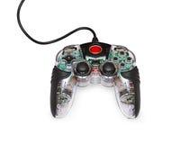 Transparent joystick for games. Transparent glass computer joystick for games Stock Images