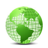 Transparent la couleur verte de globe Images stock
