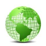 Transparent la couleur verte de globe illustration libre de droits