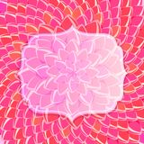 Transparent Label on Big Pink Flower Background Stock Photos