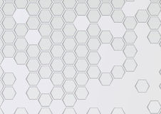 Transparent layered background with hexagons Stock Photo