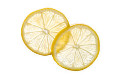 Transparent Lemon Slices Royalty Free Stock Photography