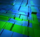 Transparent levels technology background. Transparent green blue glass levels high technology background royalty free illustration